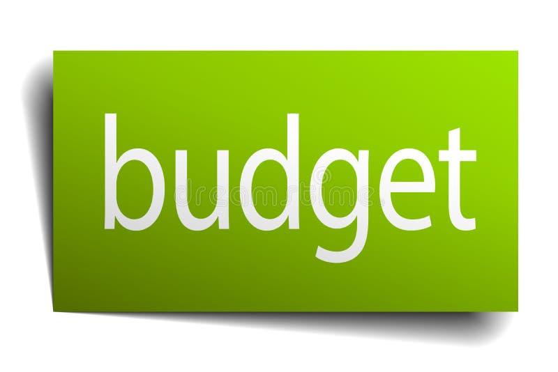 Знак бюджета иллюстрация вектора