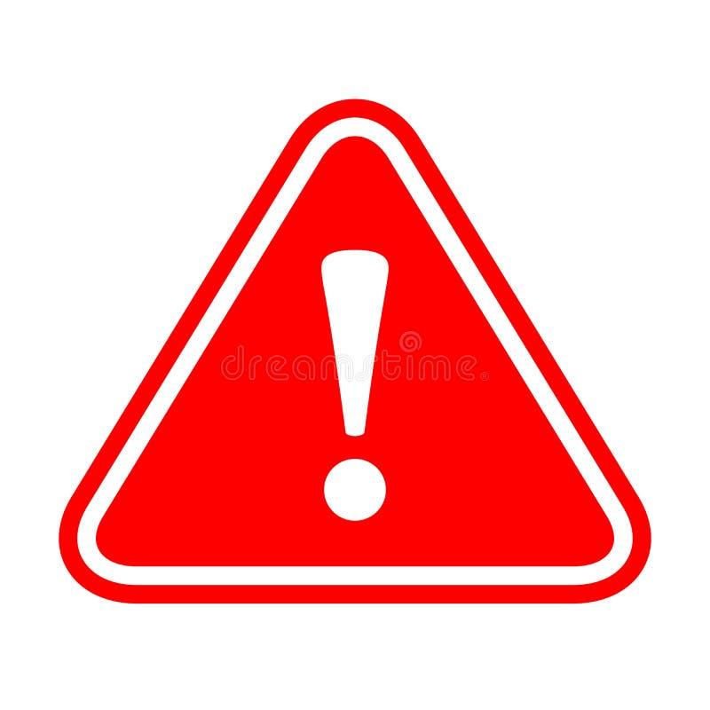 Знак вектора возгласа опасности иллюстрация вектора