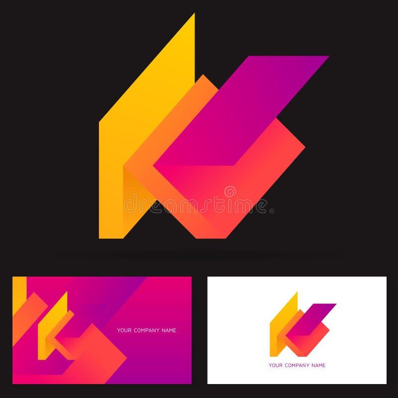 Знак вектора дизайна логотипа письма k Эмблема вектора запаса в ярких цветах бесплатная иллюстрация