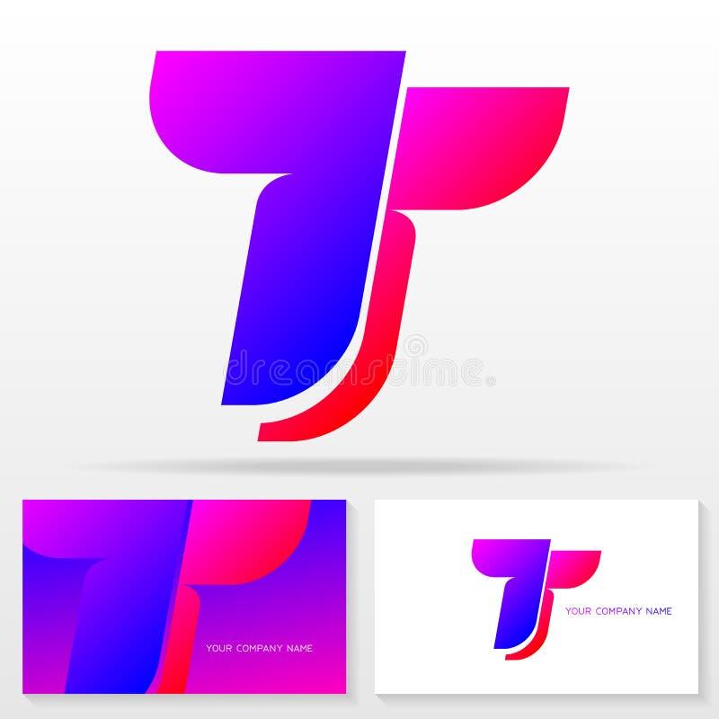 Знак вектора дизайна логотипа письма t - эмблема вектора запаса красочная иллюстрация вектора