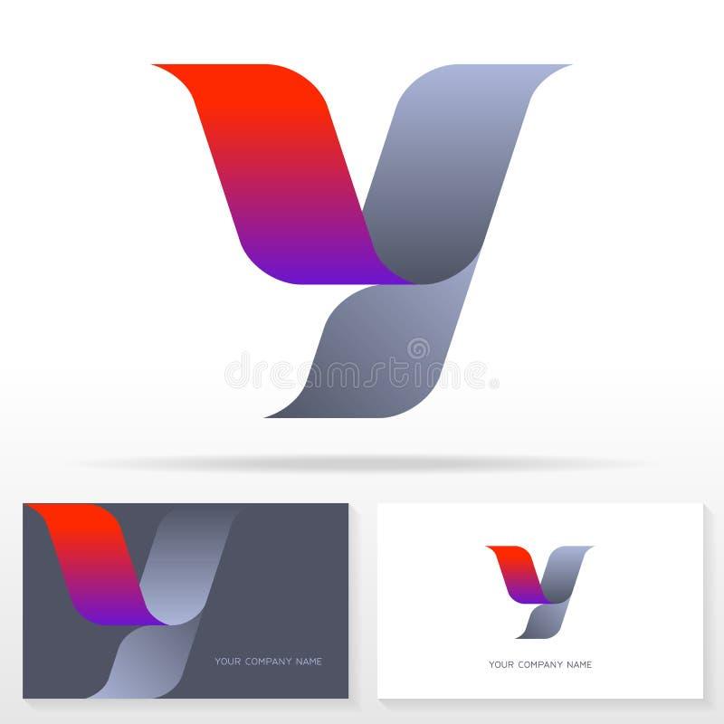 Знак вектора дизайна логотипа письма y - вектор запаса бесплатная иллюстрация