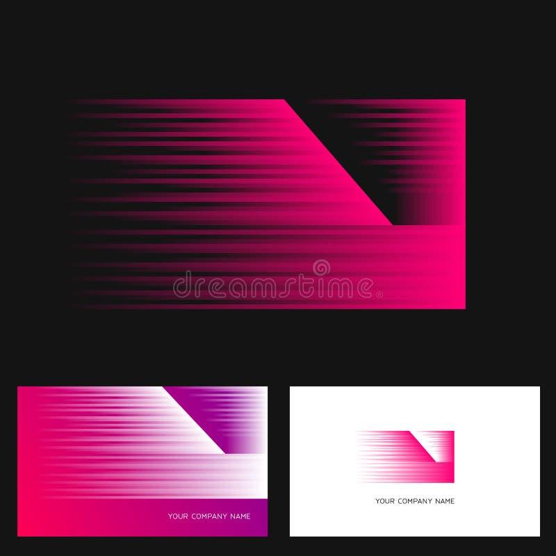 Знак вектора дизайна логотипа n письма Эмблема вектора запаса в ярких цветах бесплатная иллюстрация