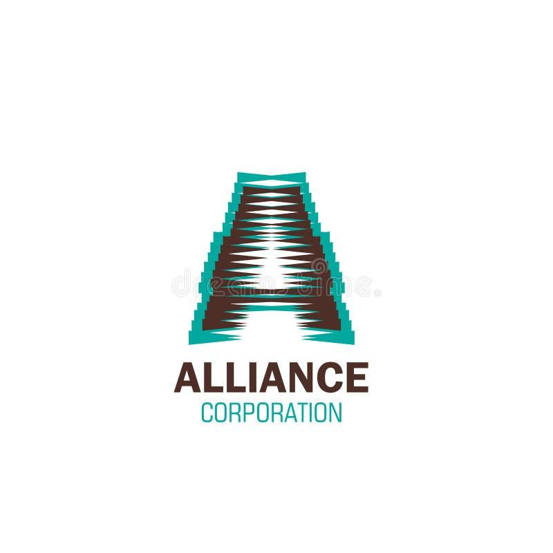 Знак вектора для корпорации союзничества иллюстрация вектора