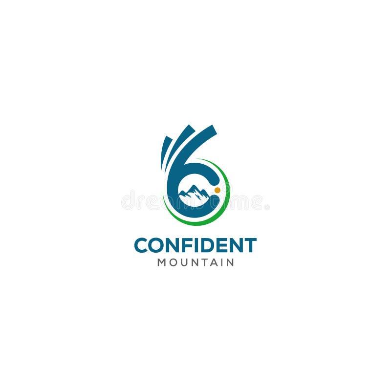 Знак вектора пальцев c письма Значок символа руки одобренный Отрицательный логотип идеи космоса шаблон дизайна логотипа горы и се иллюстрация вектора