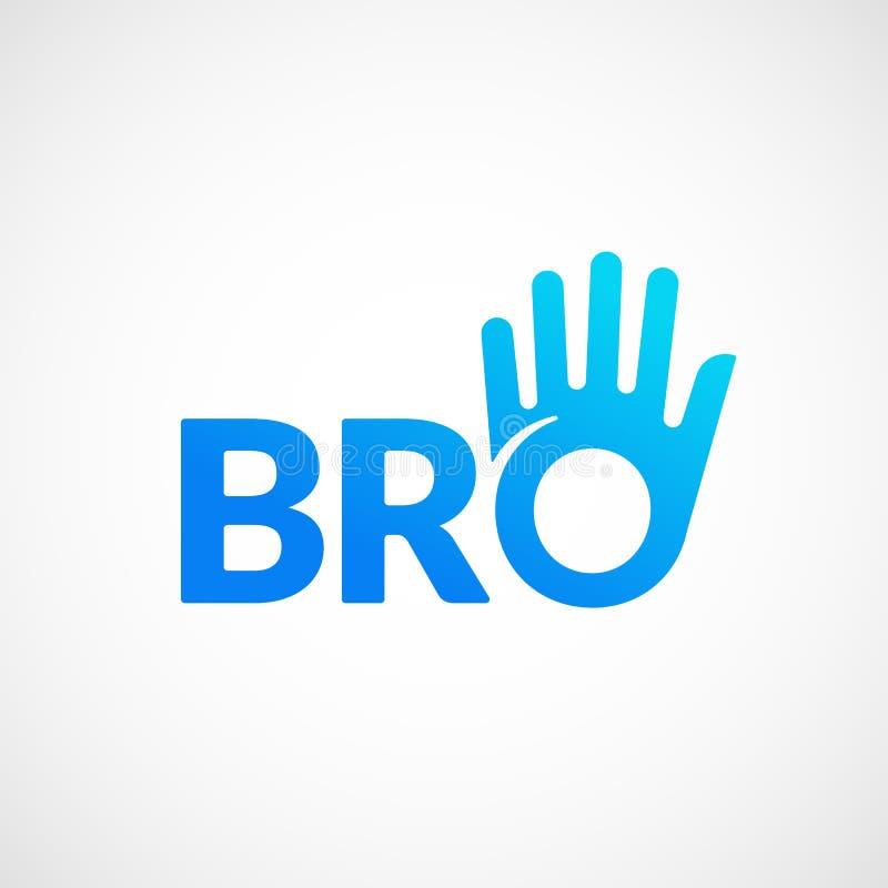 Знак вектора Bro или Borther абстрактные, эмблема или шаблон логотипа Значок литерности братства или команды Дружелюбные высокие  иллюстрация штока