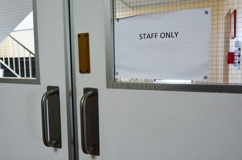 Знак двери штата только стоковое фото rf
