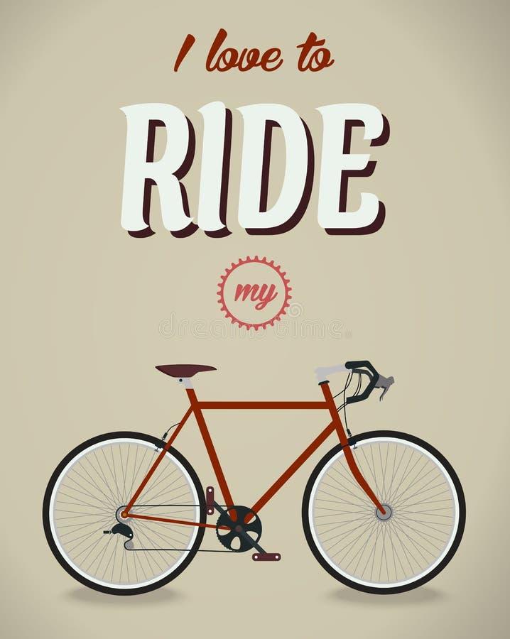 Знак велосипеда Альбом Beatles Известная песня плоско иллюстрация штока
