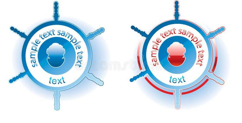 знак водолаза самомоднейший иллюстрация вектора