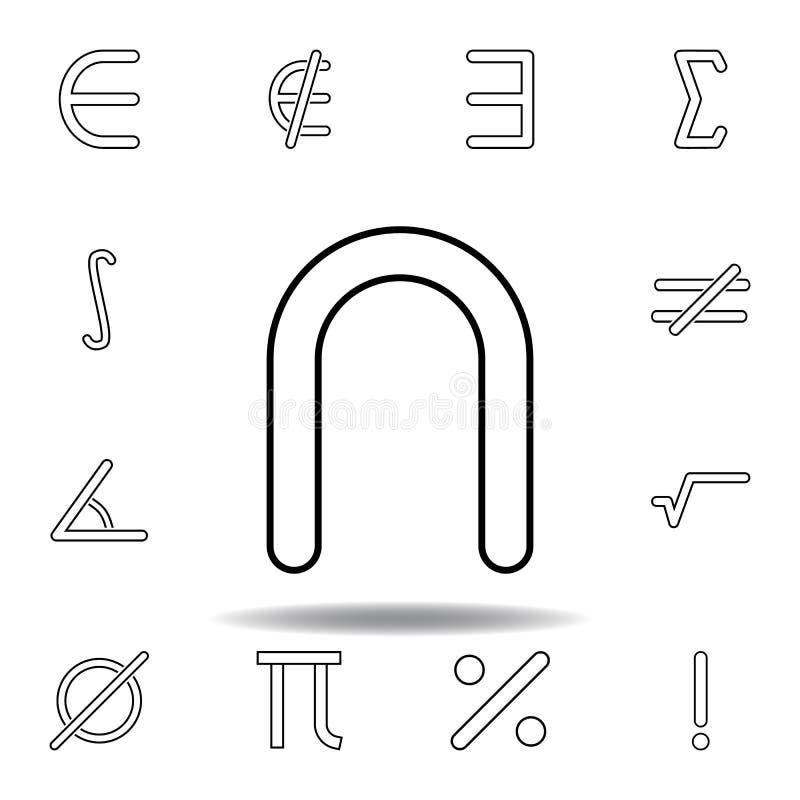 знак возвращенного значка Тонкая линия значки установила для дизайна вебсайта и развития, развития приложения r иллюстрация штока