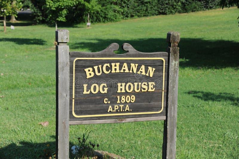 Знак двора дома журнала Buchanan, Нашвилл TN стоковое изображение