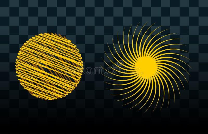 Знак восхода солнца искры солнечного луча солнечного света блеска природы лета иллюстрации вектора значка звезды взрыва Солнця ус иллюстрация штока