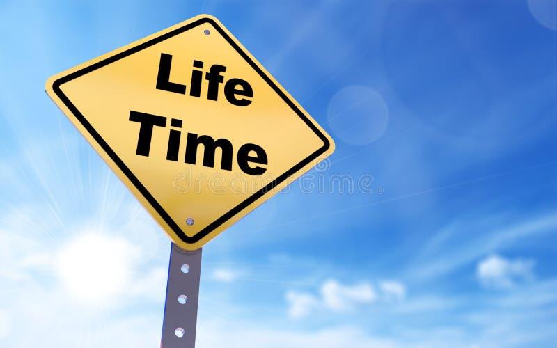 Знак времени жизни иллюстрация вектора