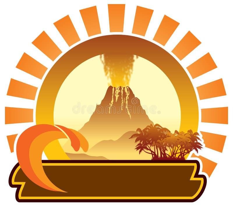 Знак вулканического острова