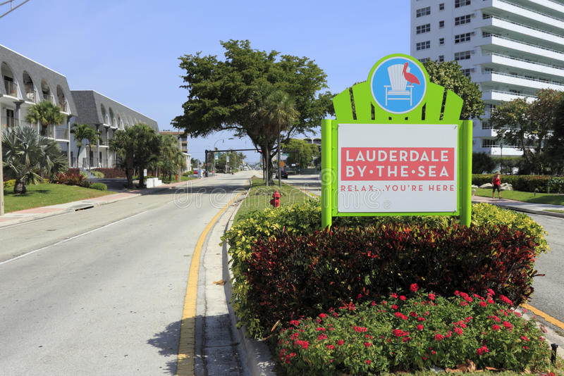 Знак входа Lauderdale---моря, Флориды стоковые изображения