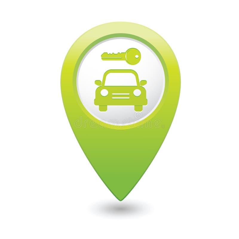 Знак гаража на указателе карты бесплатная иллюстрация