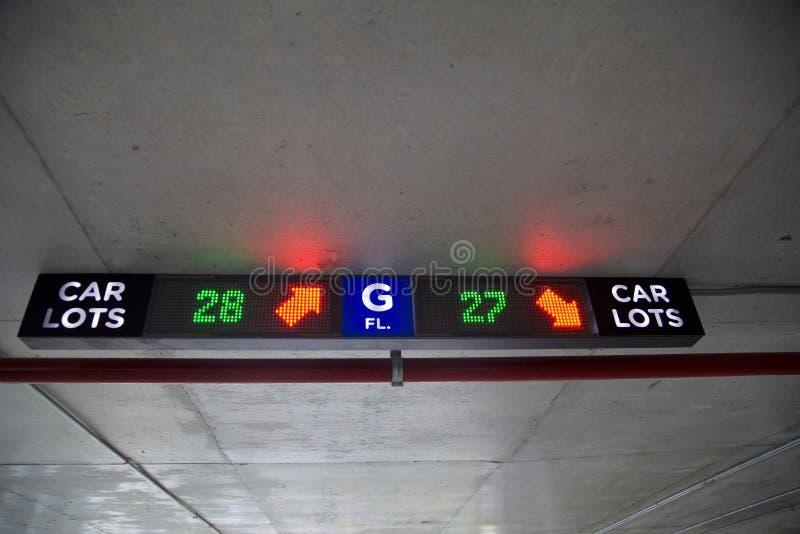 Знак гаража стоянкы автомобилей стоковые изображения
