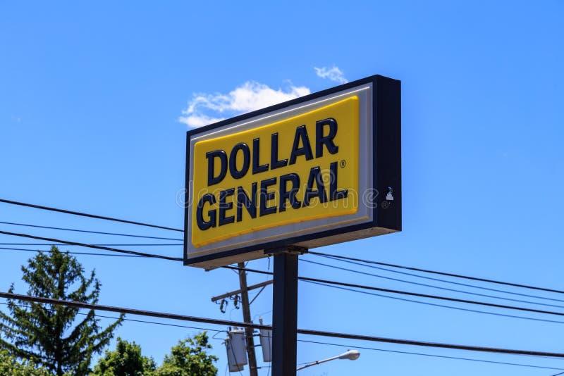 Знак генерала доллара стоковые изображения