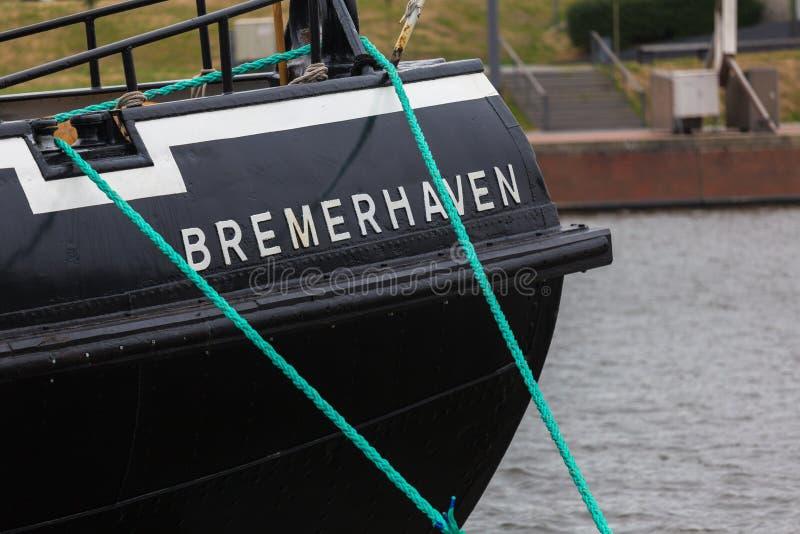 Знак Германия корабля города Бремерхафена стоковые изображения