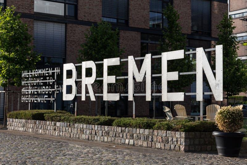 Знак города Бремена Германии стоковые изображения rf