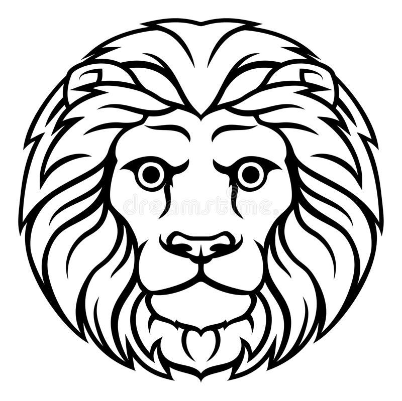 знак зодиака лев рисунок на лице городского