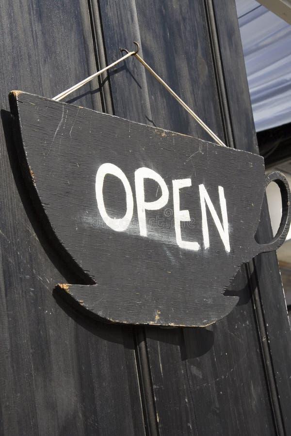 знак двери открытый стоковые фотографии rf