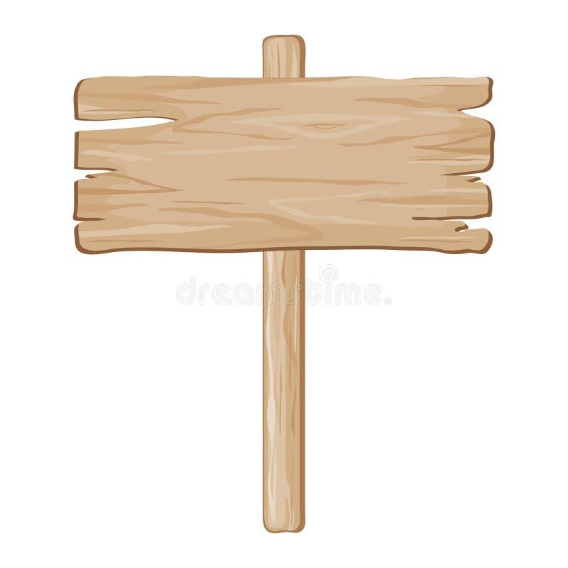 Знак деревянной доски вектора иллюстрация вектора