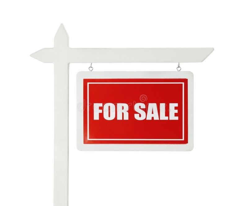 Знак ` ` для продажи на белой предпосылке стоковые изображения