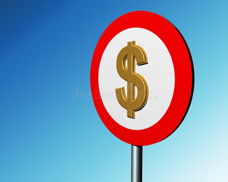 знак доллара иллюстрация вектора