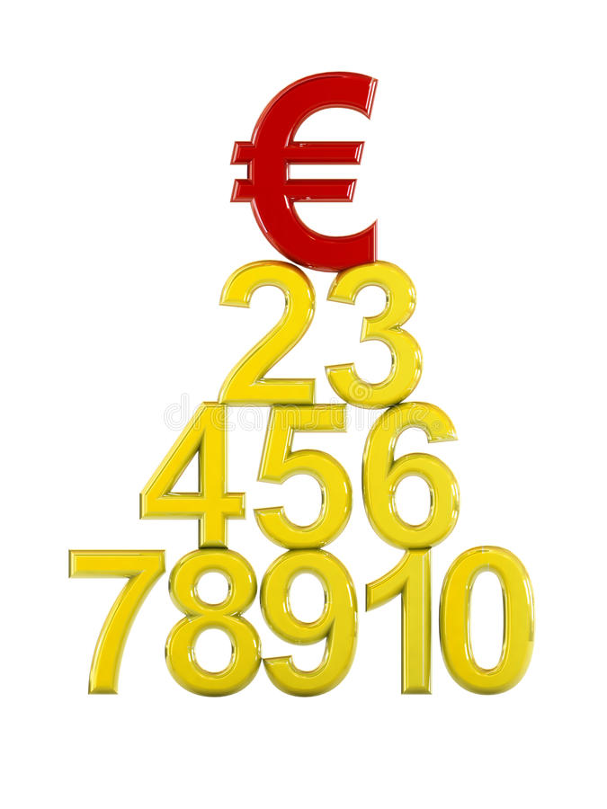 знак евро чемпиона 3d к иллюстрация штока