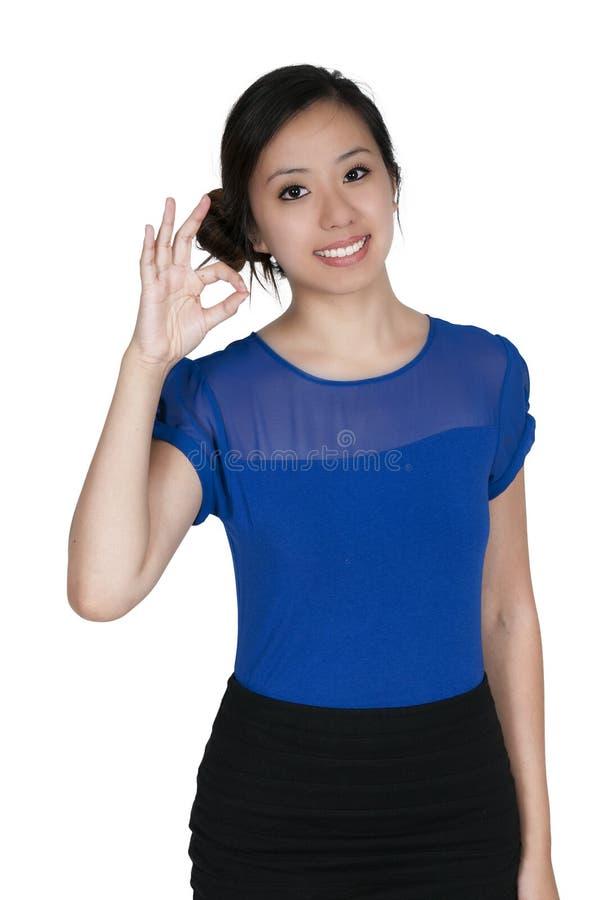 Знак женщины одобренный стоковое изображение rf