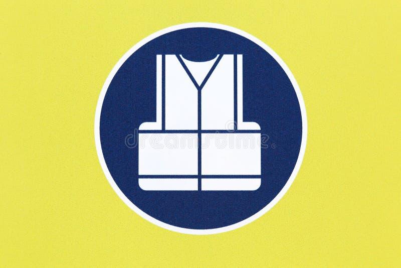 Знак жилета безопасности носки иллюстрация штока