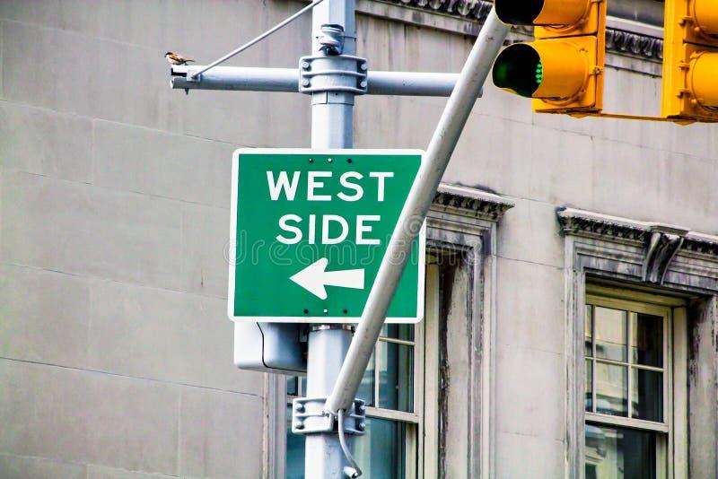 Знак западной стороны стоковые фотографии rf