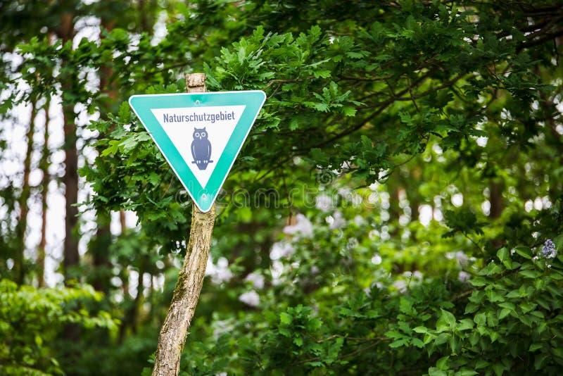 Знак заповедника стоковые изображения rf