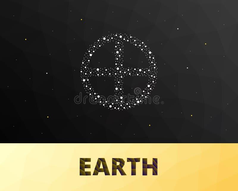 Знак земли Astro стоковое фото rf