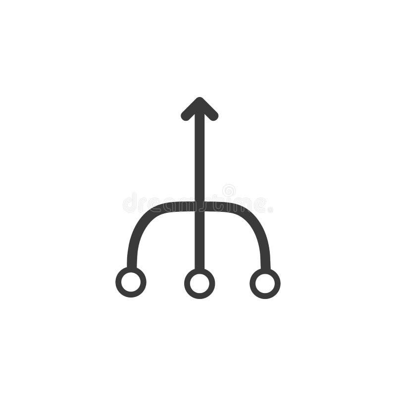 Знак значка консолидации иллюстрация вектора