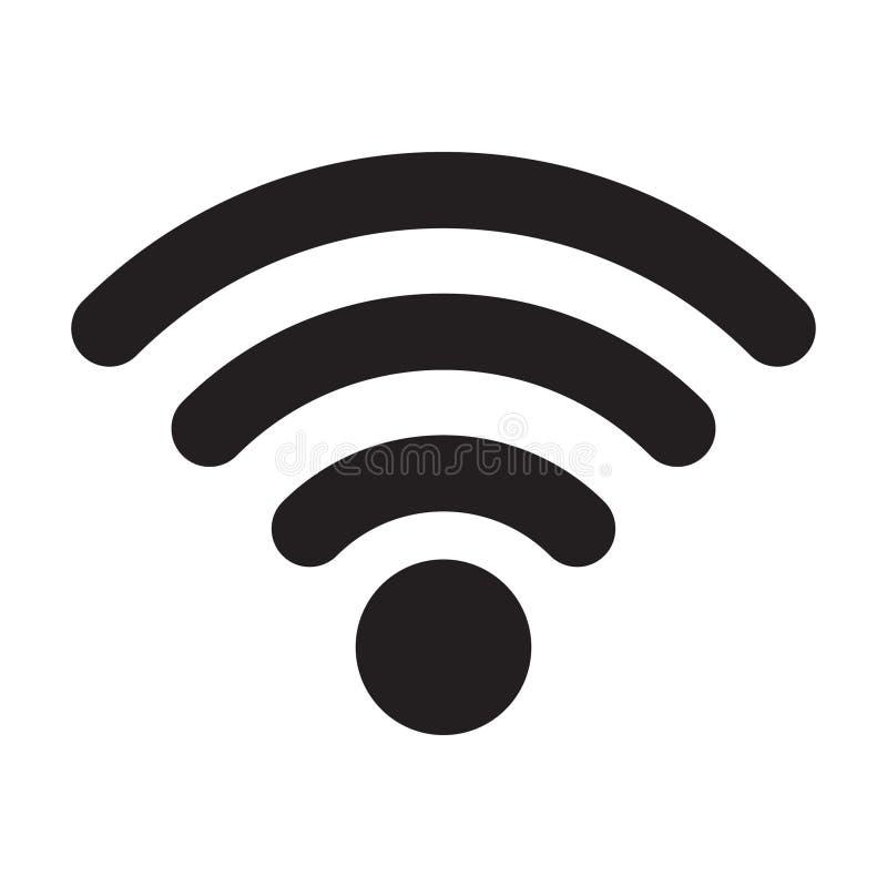Знак значка радиотелеграфа и wifi или значка Wi-Fi для удаленного доступа в интернет, бесплатная иллюстрация