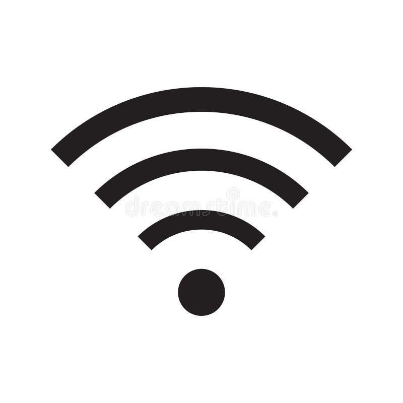 Знак значка радиотелеграфа и wifi или значка Wi-Fi для удаленного доступа в интернет, Podcast символа вектора, иллюстрации вектор бесплатная иллюстрация