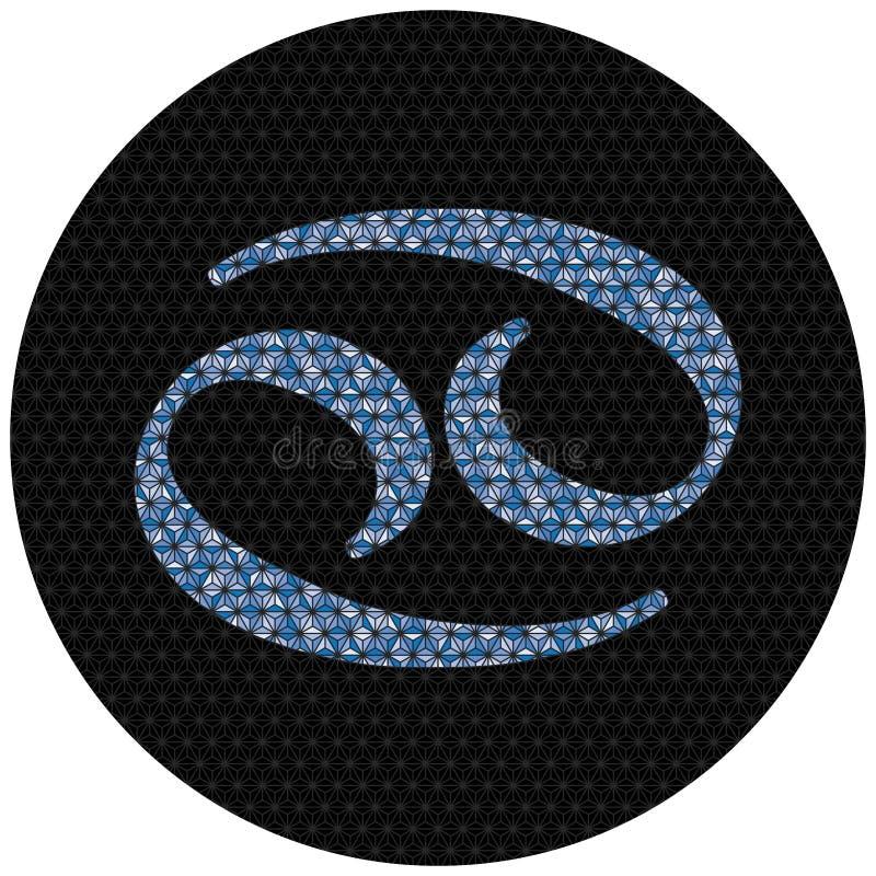 Знак зодиака Карциномы иллюстрация вектора