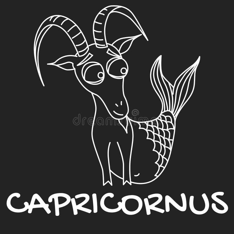Знак зодиака Capricornus для гороскопа в векторе EPS8 иллюстрация штока