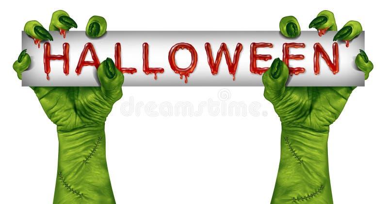 Знак зомби хеллоуина бесплатная иллюстрация
