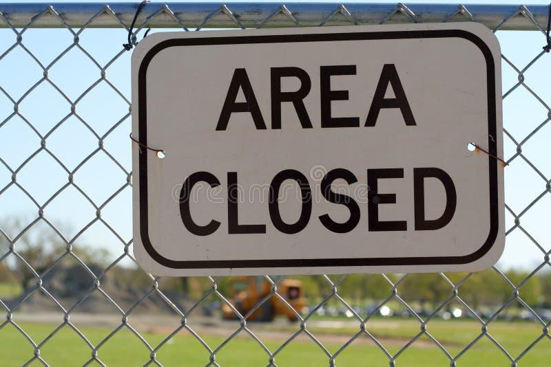 знак зоны закрытый стоковое фото