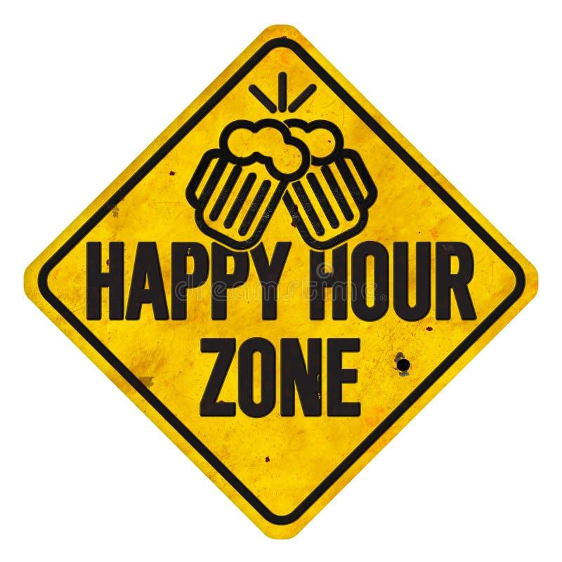Знак зоны счастливого часа иллюстрация штока