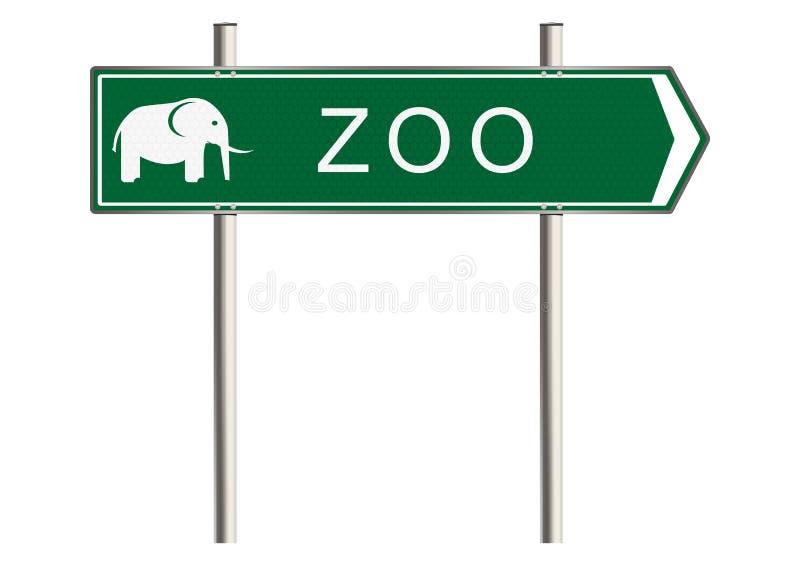 Знак зоопарка иллюстрация штока