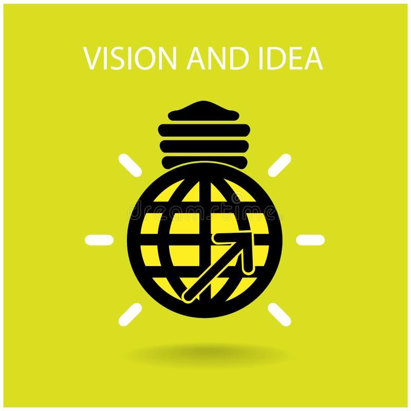 Знак зрения и идей иллюстрация штока