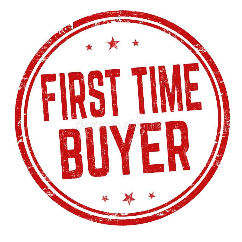 Знак или печать покупателя первого раза иллюстрация вектора