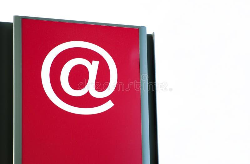 Знак интернета внутри авиапорта стоковое изображение