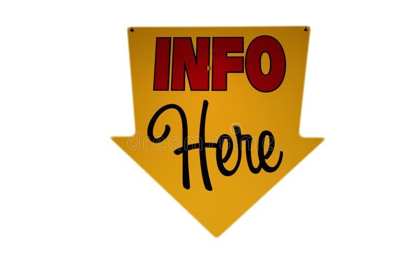 Знак информации стоковые фото