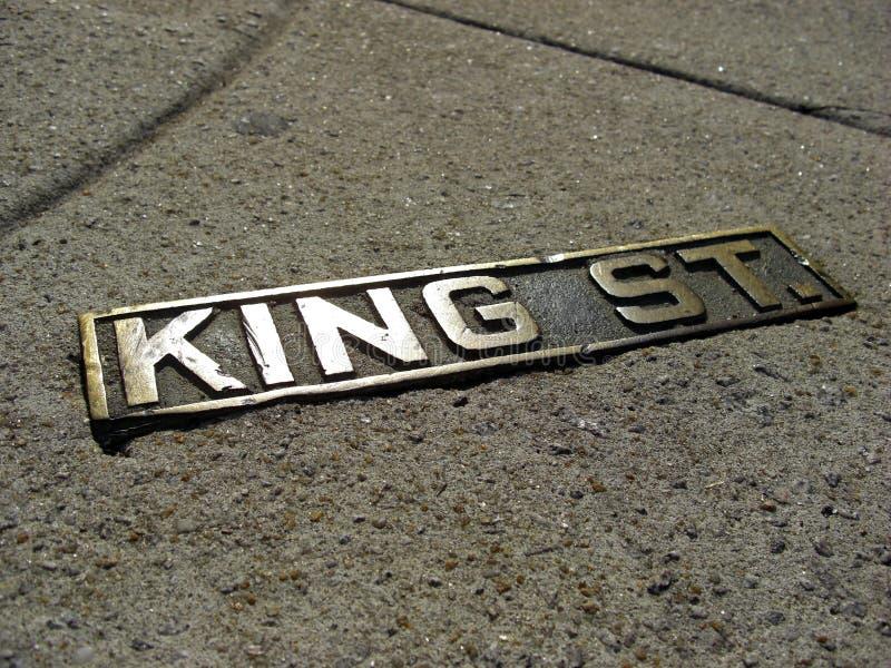 Знак исторического короля Улицы в Чарлстоне, 2008 стоковые изображения
