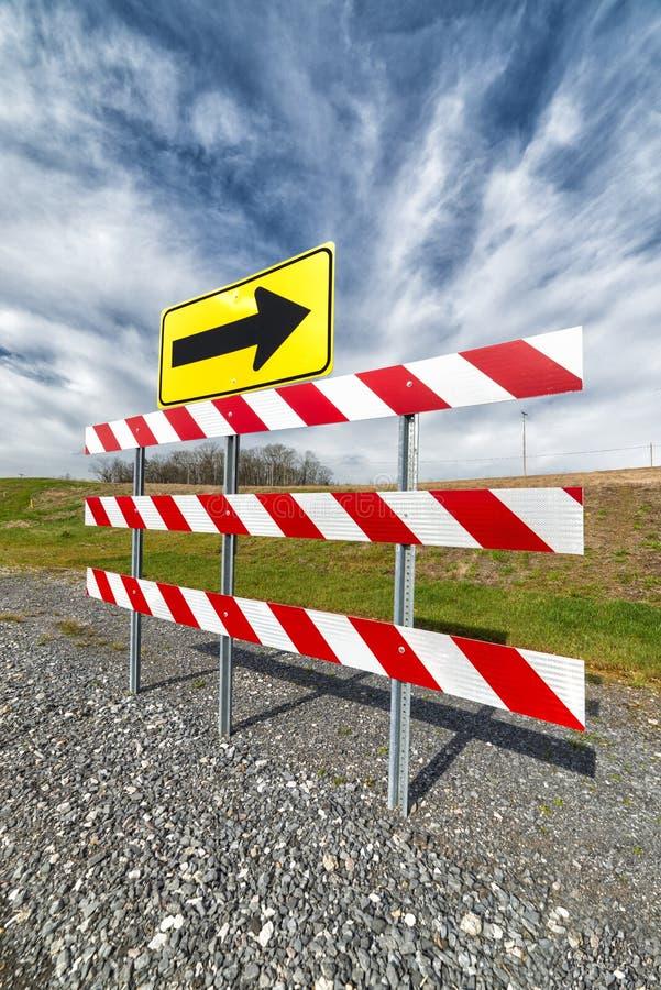 Знак и барьер крюковины стоковые изображения rf