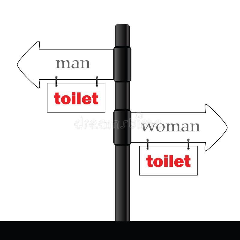 Знак и директива для иллюстрации туалета разделяют 2 бесплатная иллюстрация